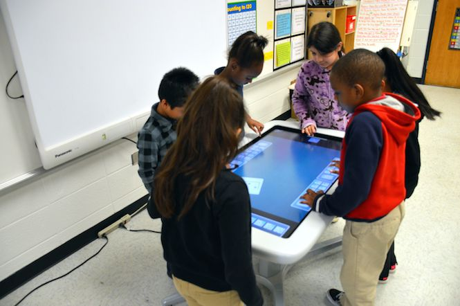 Huie Students On SMART Table